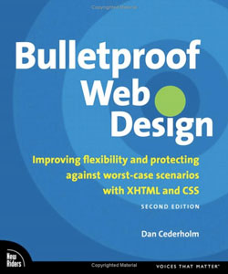 Image of the book, Bullet Proof Web Design